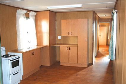 Park Home Kitchen With Built In Cupboards